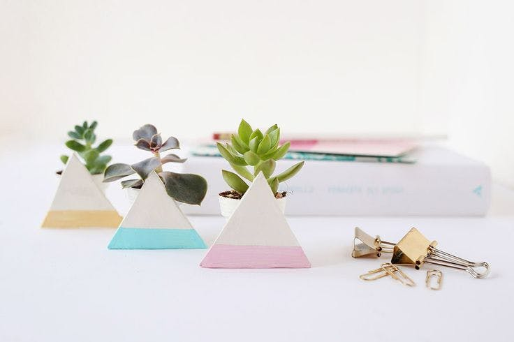 geo planters decorating your workspace benefits
