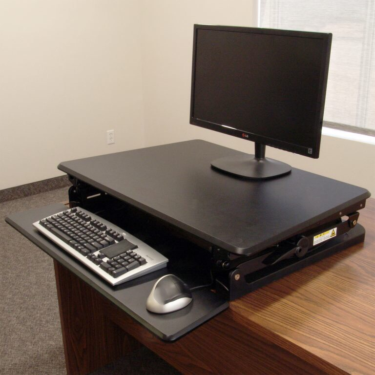 Ergoverse Cassiopeia Desktop Sit Stand Retrofit More Room